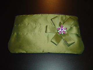 Olive green clutch -1