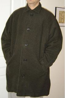Green wool coat for him